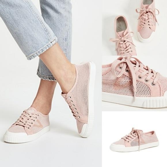 Tretorn Shoes   Tournet Pink Open Weave